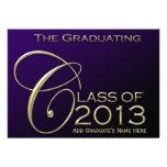 Class of 2013 Rich Purple Graduation Announcement