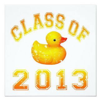Class Of 2013 Rubber Duckie - Yellow/Orange Announcement