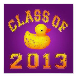 Class Of 2013 Rubber Duckie - Yellow/Orange Invitation