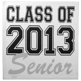 Class of 2013 Senior Cloth Napkins