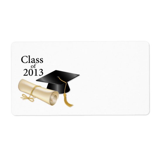Class of 2013 shipping label