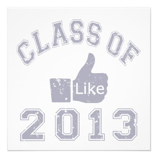 Class Of 2013 Thumbs Up Custom Invitation