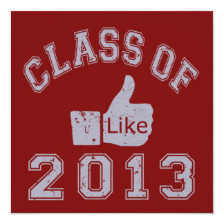 Class Of 2013 Thumbs Up 5.25x5.25 Square Paper Invitation Card