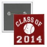 Class Of 2014 Baseball 2 Inch Square Button