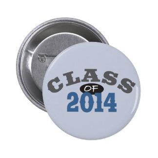 Class Of 2014 Blue 2 Inch Round Button
