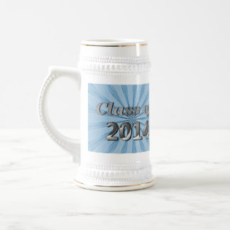 Class of 2014 Blue and Silver 18 Oz Beer Stein
