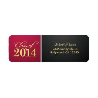 Class of 2014 Burgundy and Black Return Address Label