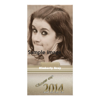 Class of 2014 Gold Personalized Graduation Photo Personalized Photo Card