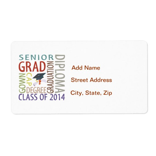 Class of 2014 Graduation Shipping Label
