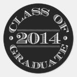 Class of 2014 Graduation Sticker Black | White