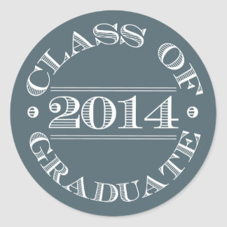 Class of 2014 Graduation Sticker Blue | White