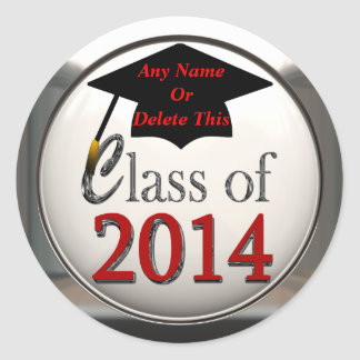 Class Of 2014 Graduation Stickers