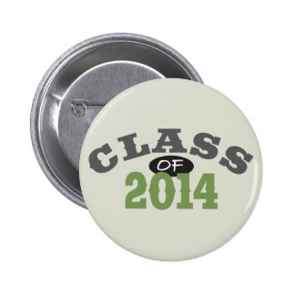 Class Of 2014 Green 2 Inch Round Button