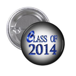 Class Of 2014 In Blue Graduation Button