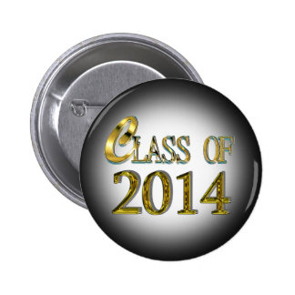Class Of 2014 In Gold Graduation Button