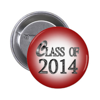 Class Of 2014 In Red Graduation Button