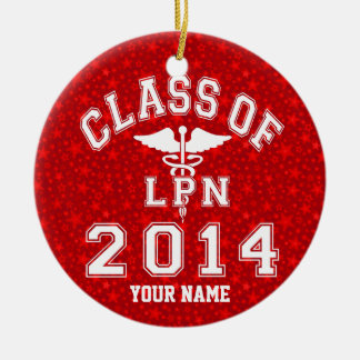 Class Of 2014 LPN Ceramic Ornament