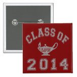 Class Of 2014 LPN - Grey 2 2 Inch Square Button