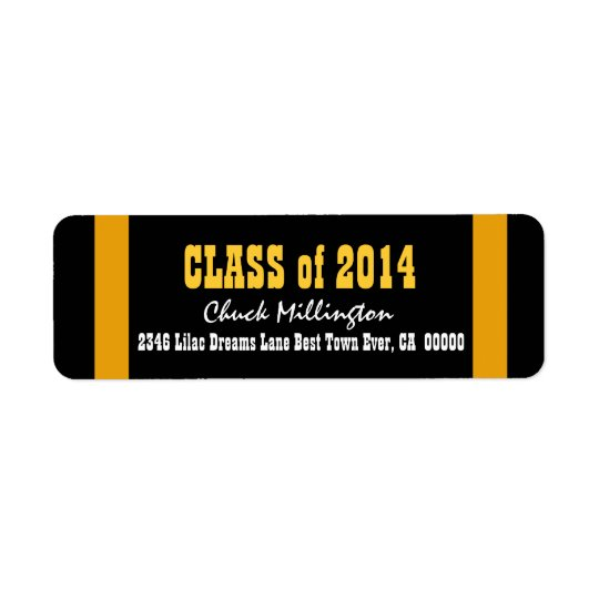 Class of 2014 or ANY YEAR Gold Stripes V008