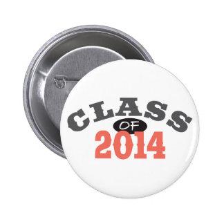 Class Of 2014 Peach 2 Inch Round Button