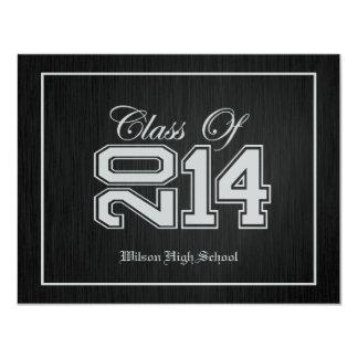 Class of 2014 Premium Silver Graduation invites