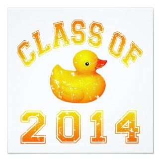 Class Of 2014 Rubber Duckie - Orange Invitation