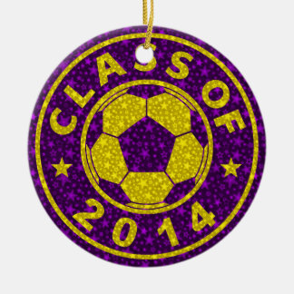 Class Of 2014 Soccer Ceramic Ornament