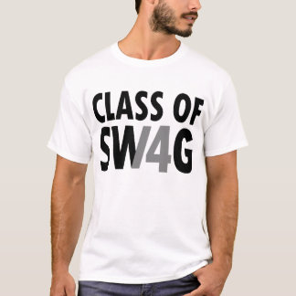Class of 2014 Swag Black and White Graduation T-Shirt
