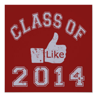 "Class Of 2014 Thumbs Up 5.25"" Square Invitation Card"