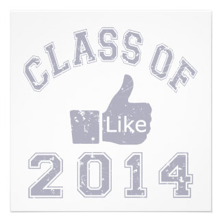 Class Of 2014 Thumbs Up Personalized Invitation