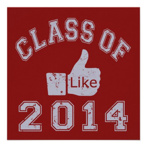 Class Of 2014 Thumbs Up Personalized Invite