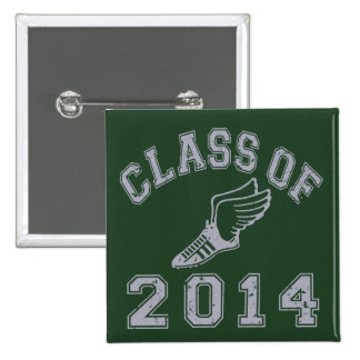 Class Of 2014 Track & Field Grey 2 2 Inch Square Button