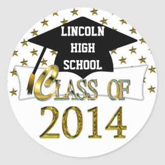Class Of 2014 With Gold Stars Sticker