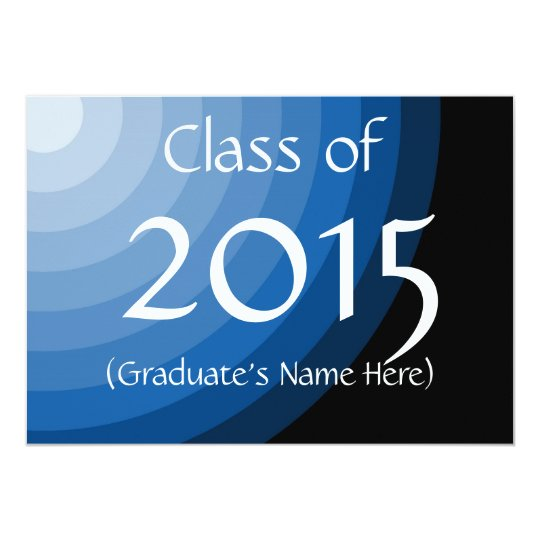 Class of 2015 Blue Graduation Invites by Janz