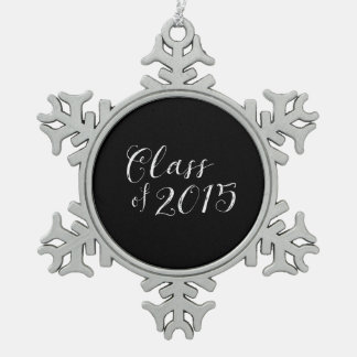 Class of 2015 Chalkboard Style Vintage Pewter Snowflake Ornament