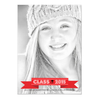 Class Of 2015 Graduation Photo Announcements (Red)