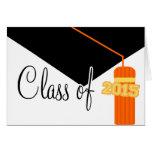Class Of 2015 Graduation Tassel Card (Orange)