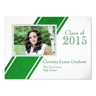 Class of  2015 Green Photo Graduation Card