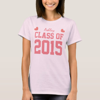 Class of 2015 or Any Year New Grad Tee Hearts A03