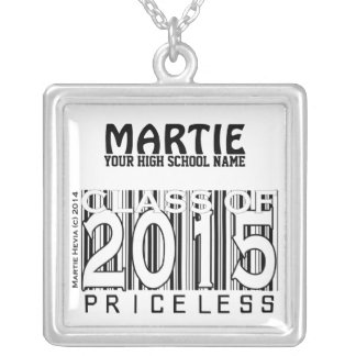 Class of 2015 Priceless Personalize Necklace