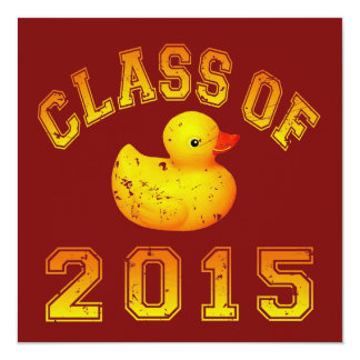 Class Of 2015 Rubber Duckie - Orange 2 Custom Announcement