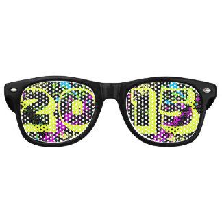 Class of 2015 Seniors Neon Paint Splash Graduation Retro Sunglasses