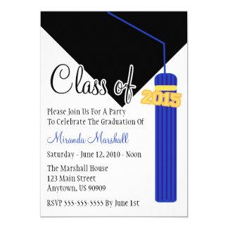 Class Of 2015 Tassel Graduation Invite (Blue)
