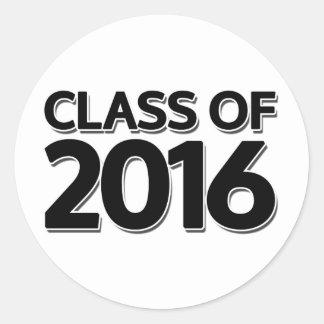 Class of 2016 classic round sticker