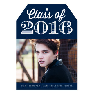 Class of 2016 Classic Typography | Navy Graduation Card