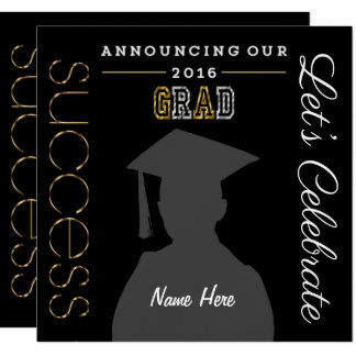 """Class of 2016""  CUSTOMIZABLE GRADUATION PARTY Card"