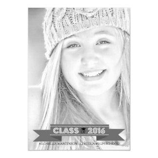 Class Of 2016 Graduation Photo Announcement (Gray)