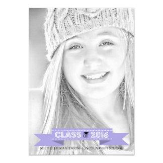 Class Of 2016 Graduation Photo Announcement Purple