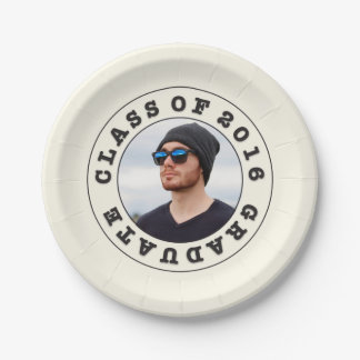 Class of 2016 Graduation Photo Plate 7 Inch Paper Plate