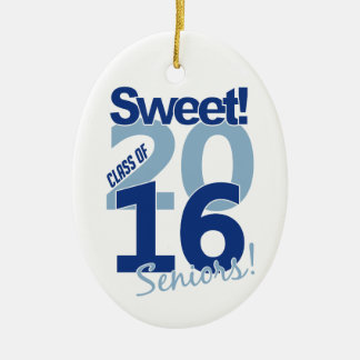 Class of 2016 ornament, customizable ceramic ornament
